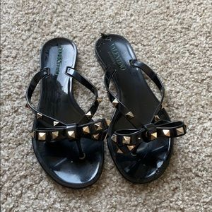 AUTHENTIC Valentino rock-stud jelly sandals!